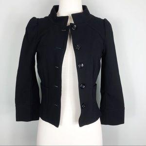 Diane von Furstenberg | Black 3/4 Sleeve Blazer